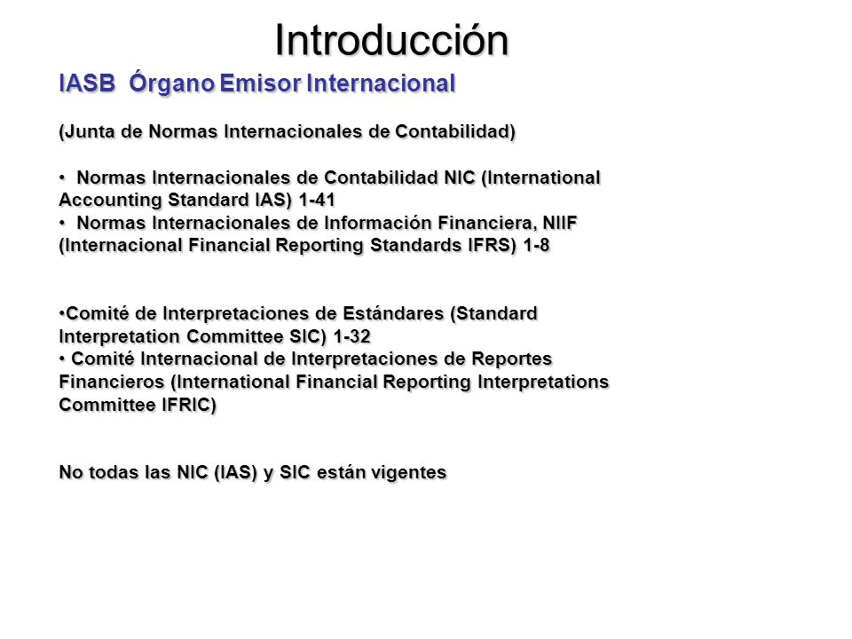 Marco Conceptual NIC-NIIF. Tomado de Unicauca