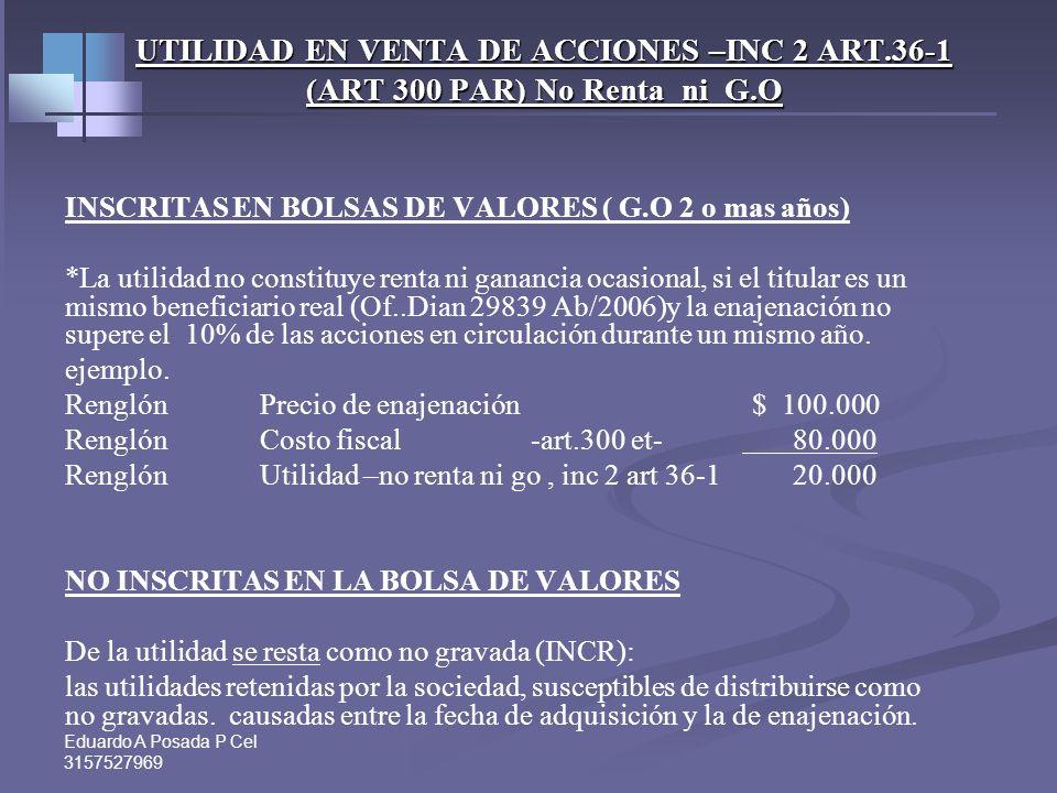 Eduardo A Posada P Cel 3157527969 Taller venta de activos fijos- Inmuebles Caso 2: Hay planes de venta para el 2011. Valor Venta proyectado $ 570.000