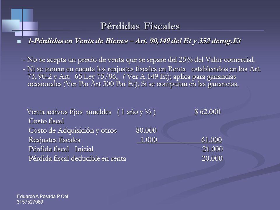Eduardo A Posada P Cel 3157527969 Estrategias para disminuir la ganancia ocasional 1- Usar la opción ajuste IPC empleados Art. 73 Et 1- Usar la opción