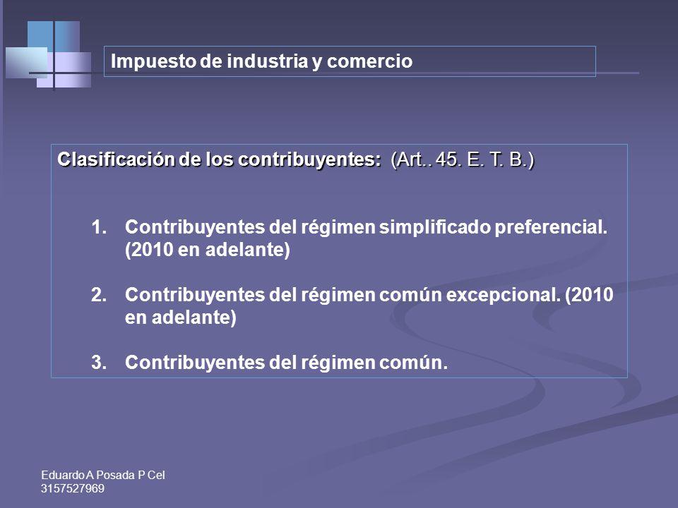 Eduardo A Posada P Cel 3157527969 Exclusión tácita de los profesionales independientes como sujetos pasivos. 1.El artículo 5º del Acuerdo 015 de 2009