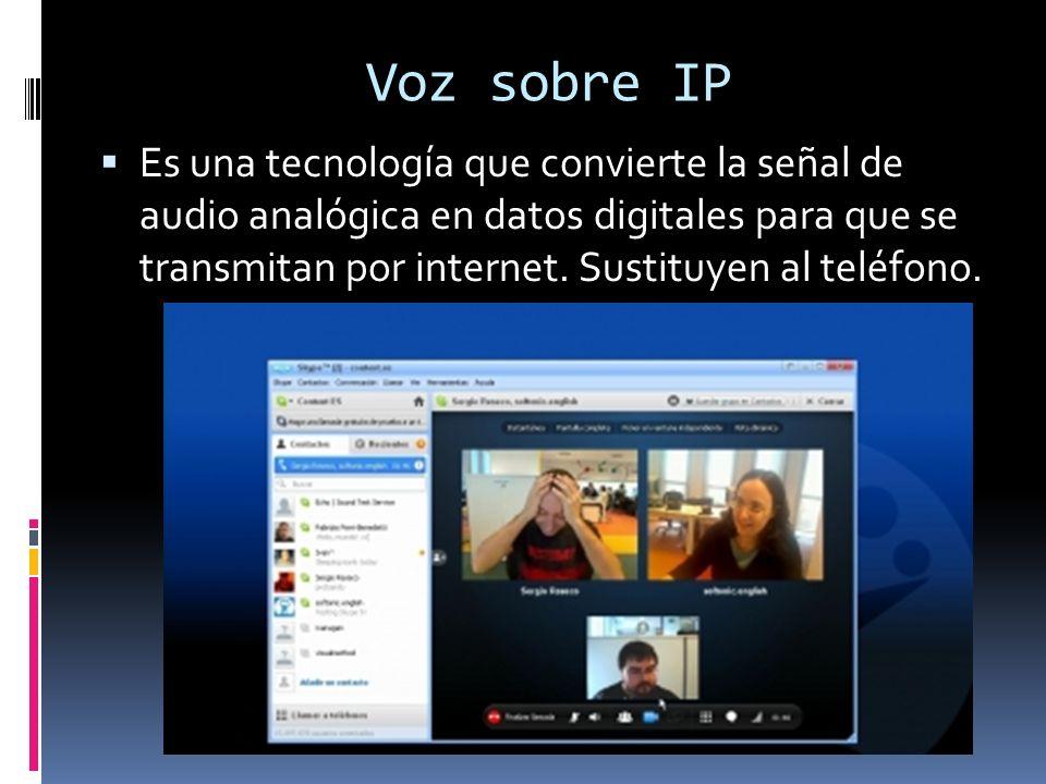 Voz sobre IP Es una tecnología que convierte la señal de audio analógica en datos digitales para que se transmitan por internet.