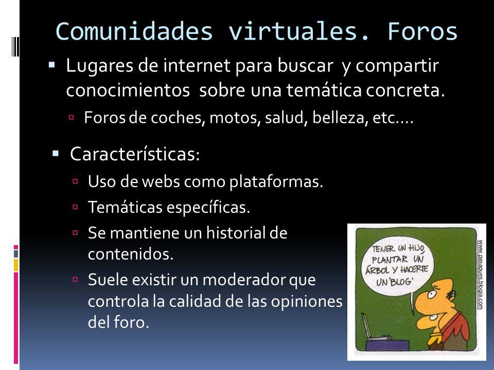 Comunidades virtuales.