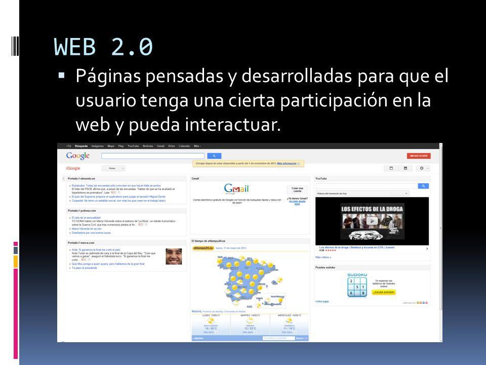 Blogs Página web dedicada a la publicación de artículos personales.