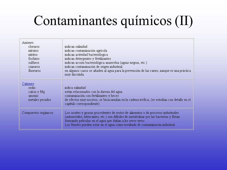 Contaminantes químicos (II)