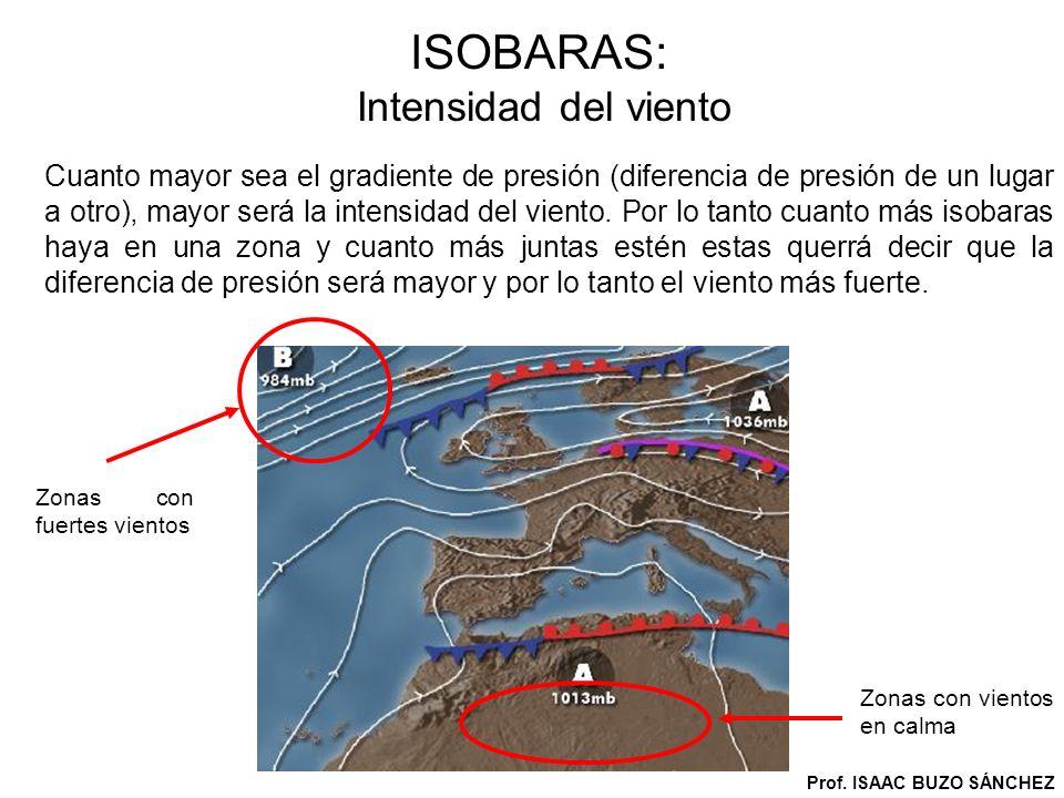 ISOBARAS: Deducciones a partir de ellas.