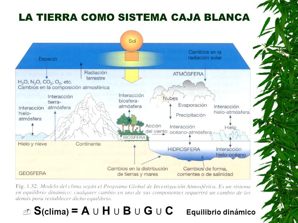 MODELOS DE REGULACIÓN DEL CLIMA TERRESTRE LA TIERRA COMO SISTEMA DE CAJA NEGRA