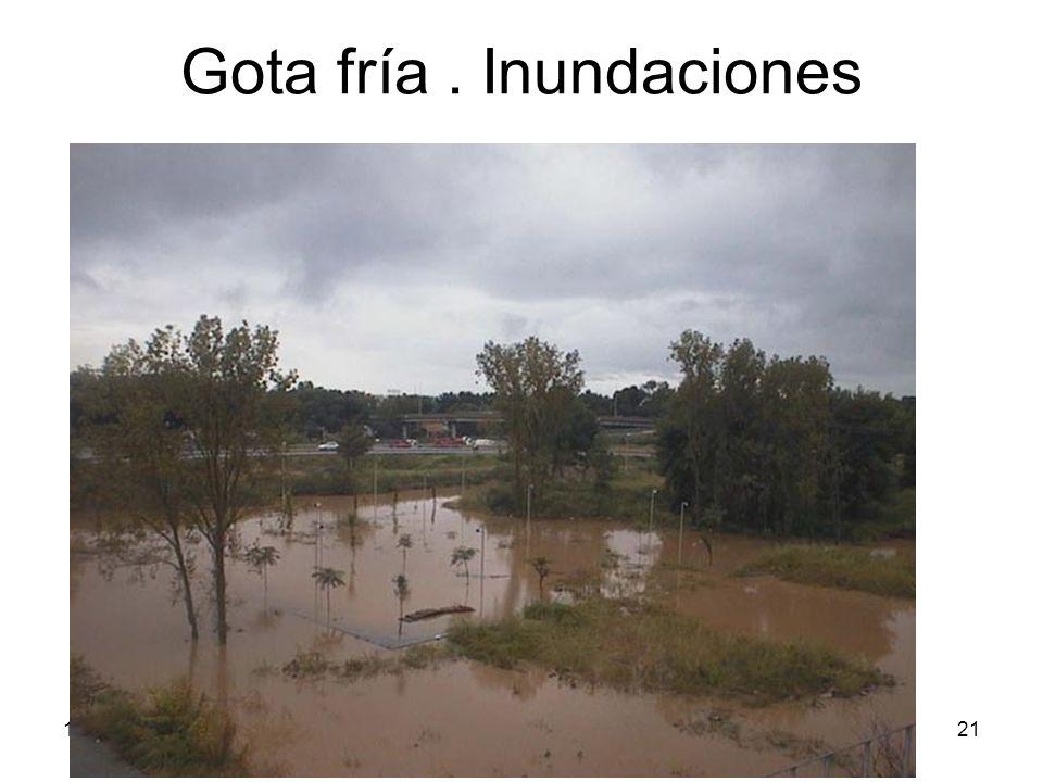 15/02/2014Pilar Morollón IES San Isidro21 Gota fría. Inundaciones