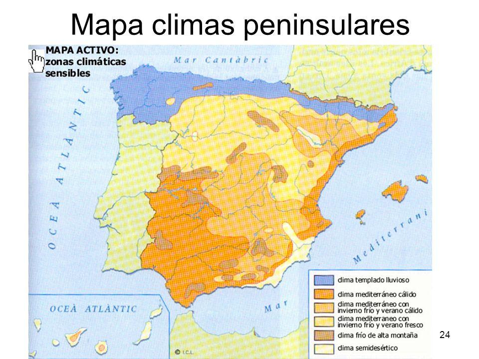 15/02/2014Pilar Morollón IES San Isidro24 Mapa climas peninsulares