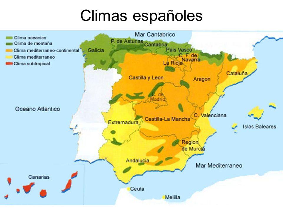 15/02/2014Pilar Morollón IES San Isidro25 Climas españoles