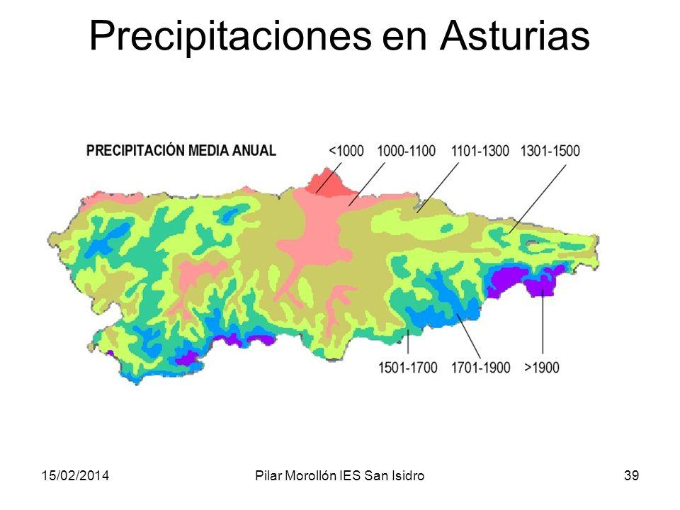 15/02/2014Pilar Morollón IES San Isidro39 Precipitaciones en Asturias
