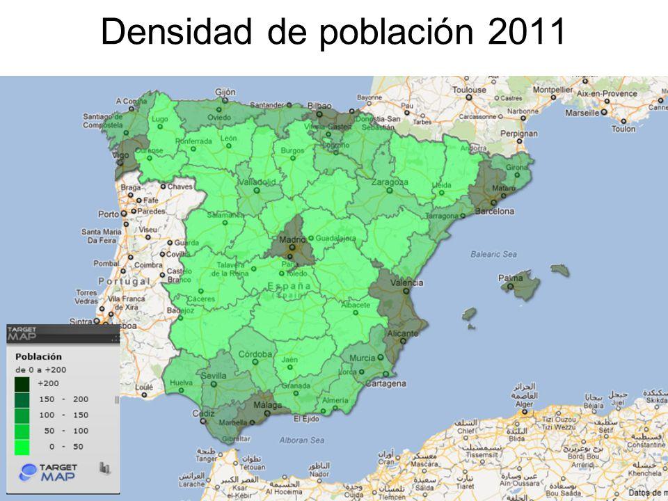 15/02/2014Pilar Morollón IES San Isidro13 Densidad de población 2011