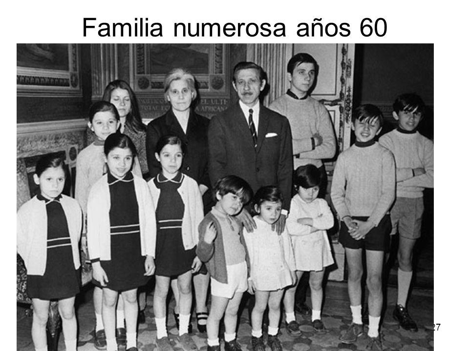 15/02/2014Pilar Morollón IES San Isidro27 Familia numerosa años 60