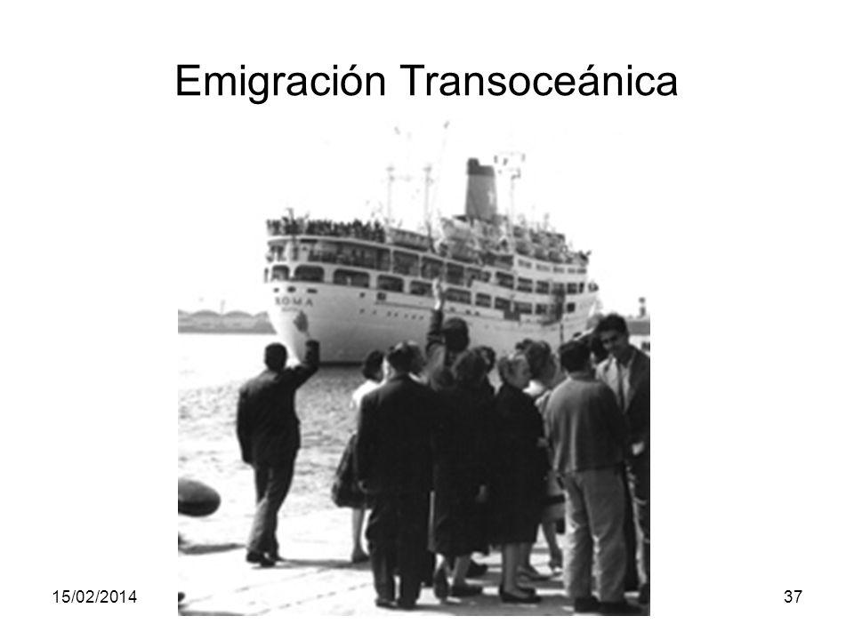 15/02/2014Pilar Morollón IES San Isidro37 Emigración Transoceánica