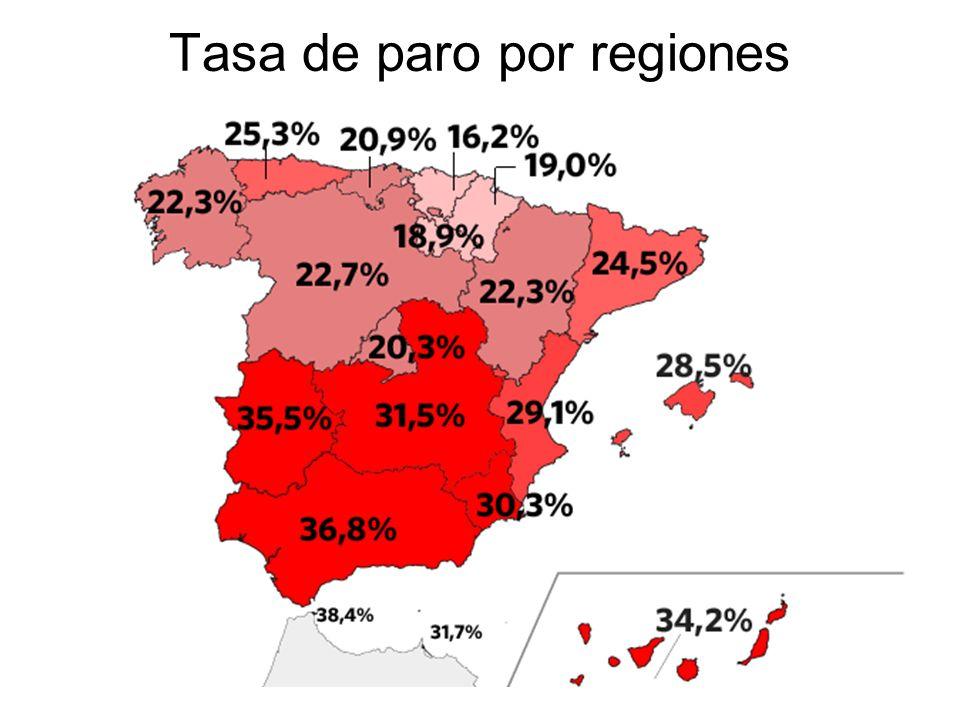 15/02/2014Pilar Morollón IES San Isidro58 Tasa de paro por regiones
