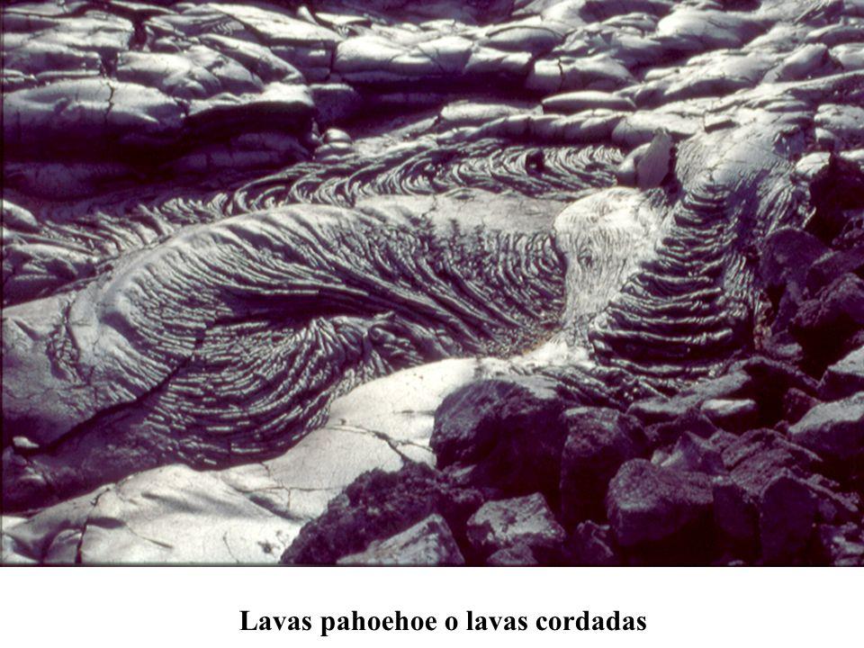 Lavas pahoehoe o lavas cordadas