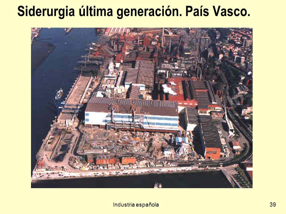 Industria española39 Siderurgia última generación. País Vasco.