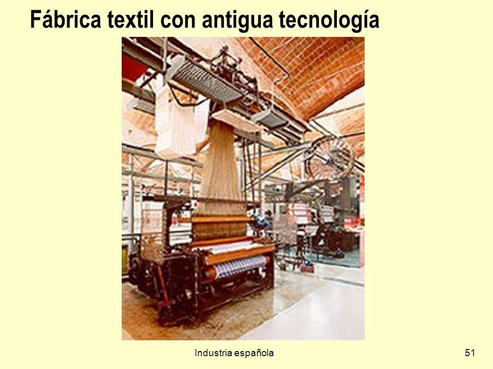 Industria española51 Fábrica textil con antigua tecnología