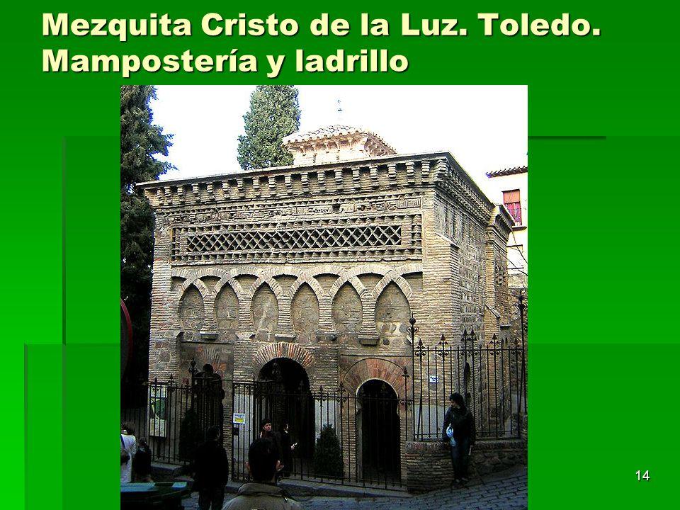 Arte islámico14 Mezquita Cristo de la Luz. Toledo. Mampostería y ladrillo