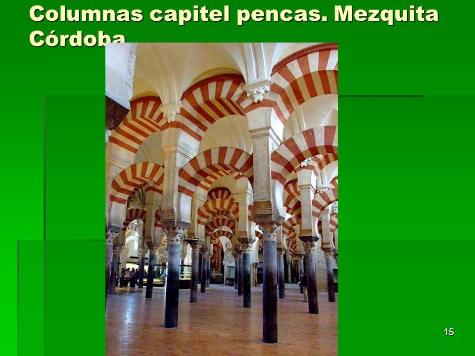 Arte islámico15 Columnas capitel pencas. Mezquita Córdoba