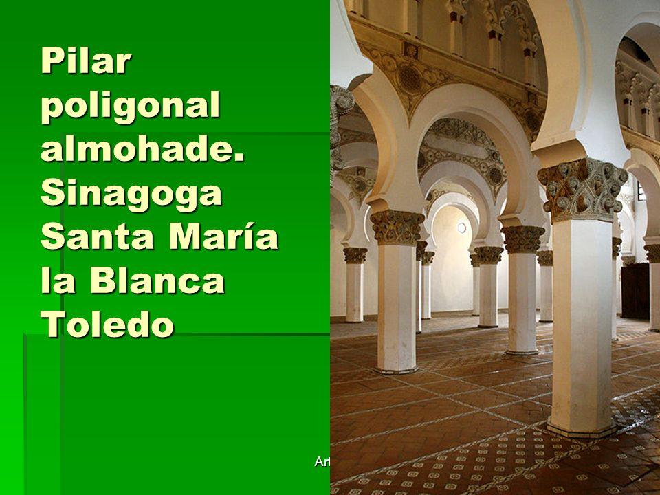 Arte islámico17 Pilar poligonal almohade. Sinagoga Santa María la Blanca Toledo