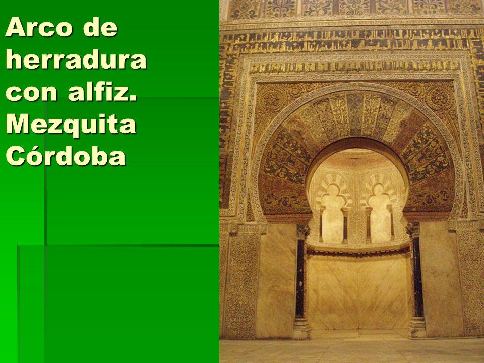 Arte islámico18 Arco de herradura con alfiz. Mezquita Córdoba