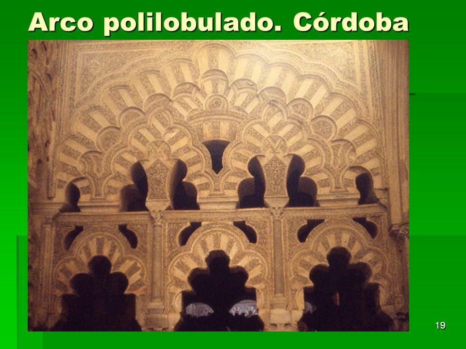 Arte islámico19 Arco polilobulado. Córdoba
