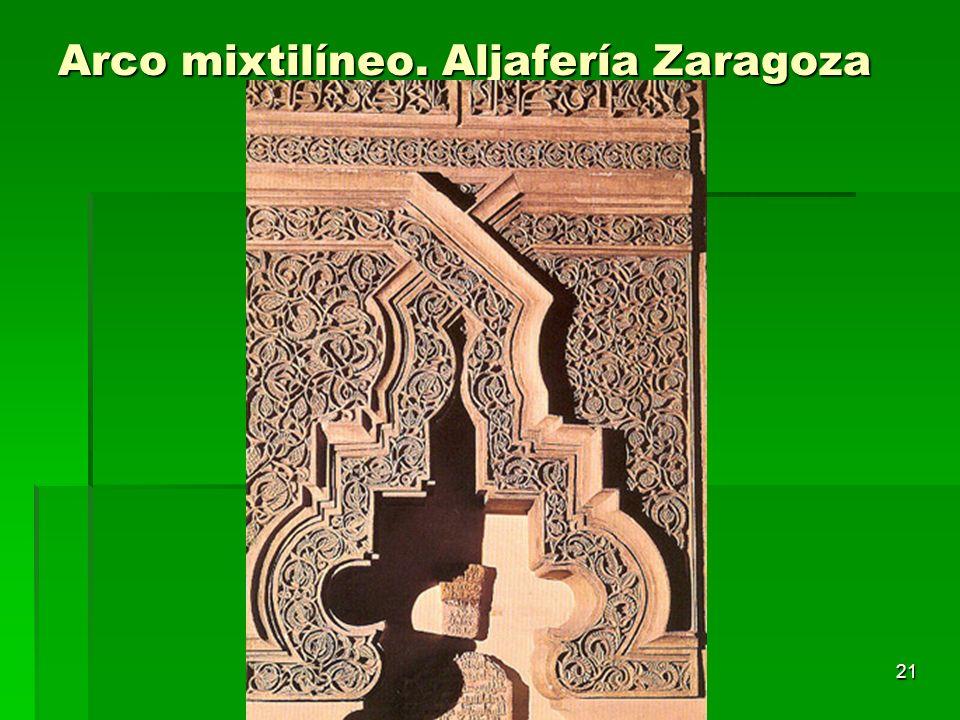 Arte islámico21 Arco mixtilíneo. Aljafería Zaragoza