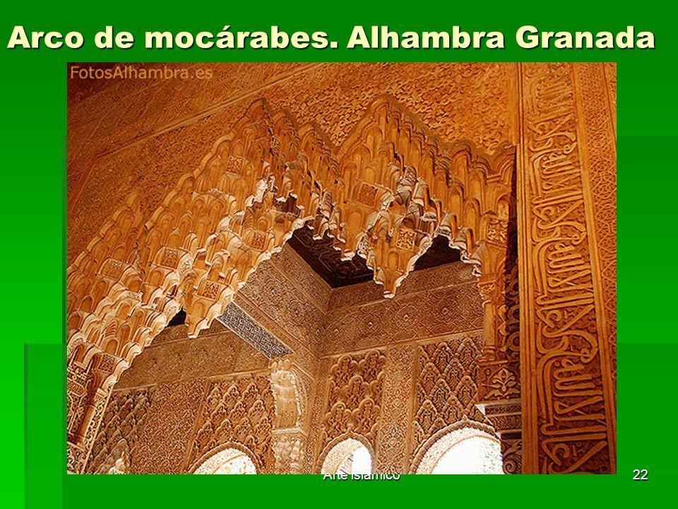 Arte islámico22 Arco de mocárabes. Alhambra Granada