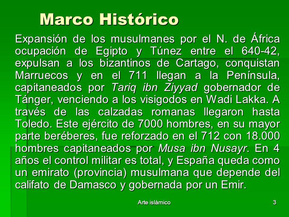 Arte islámico4 Etapas históricas en España.711- 929 Emirato.