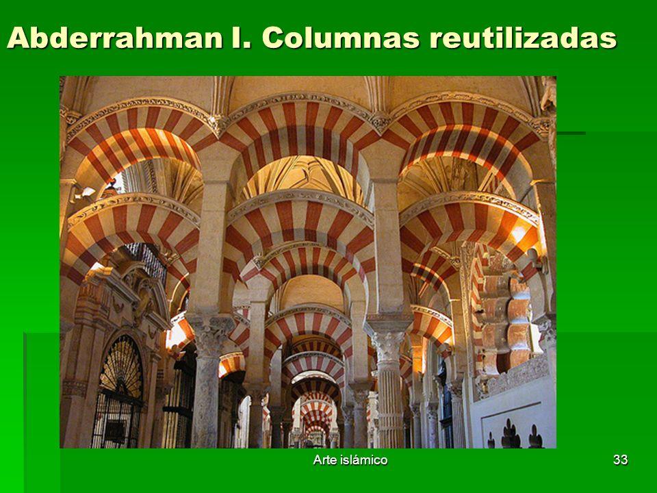 Arte islámico33 Abderrahman I. Columnas reutilizadas
