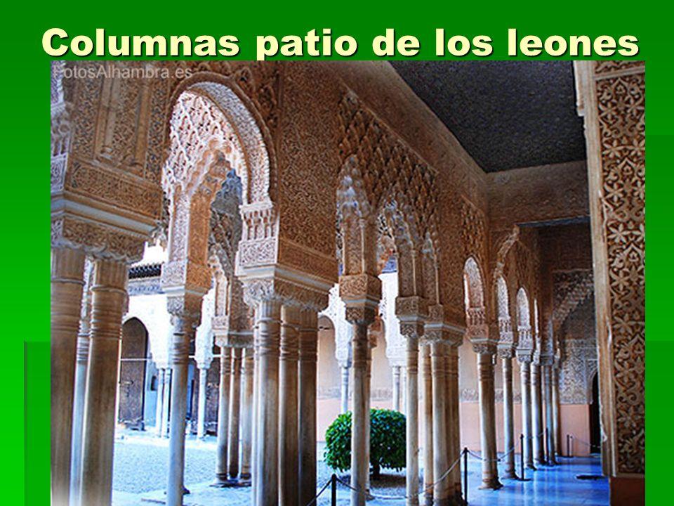 Arte islámico46 Columnas patio de los leones