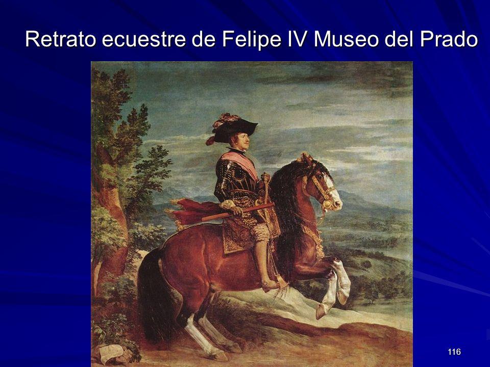 Pintura barroca 116 Retrato ecuestre de Felipe IV Museo del Prado