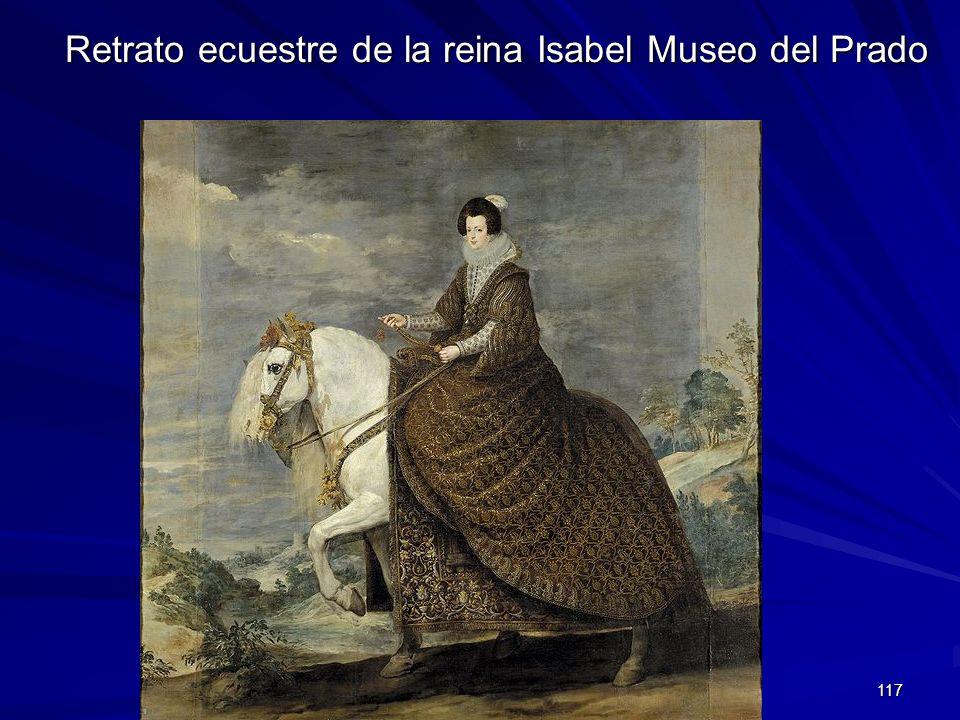 Pintura barroca 117 Retrato ecuestre de la reina Isabel Museo del Prado