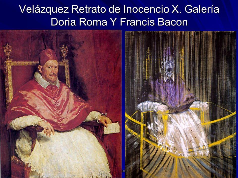 Pintura barroca 133 Velázquez Retrato de Inocencio X. Galería Doria Roma Y Francis Bacon