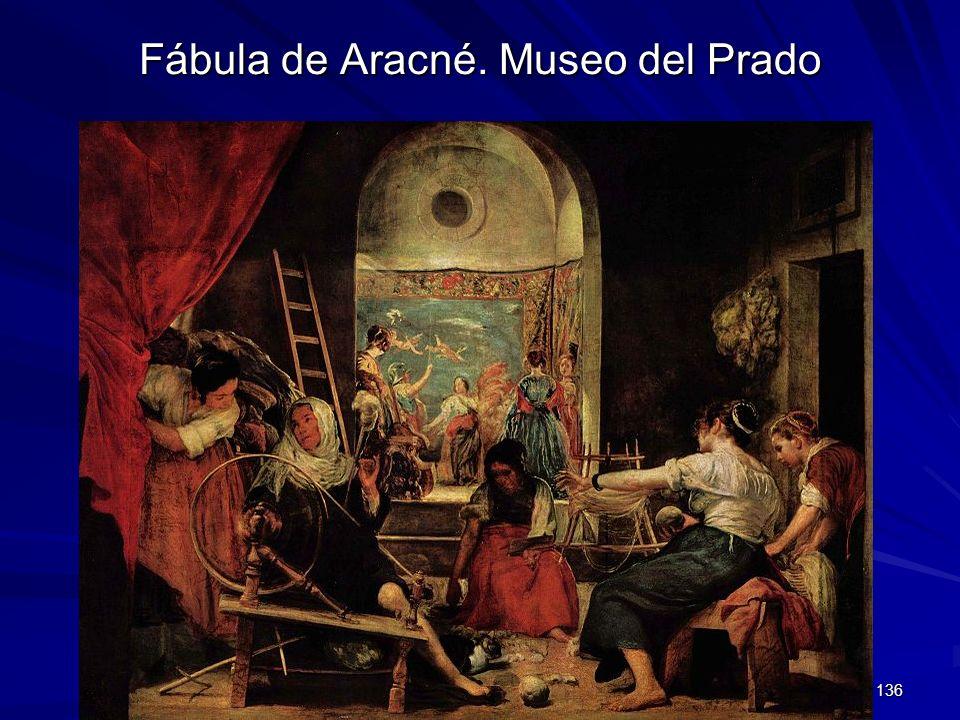 Pintura barroca 136 Fábula de Aracné. Museo del Prado