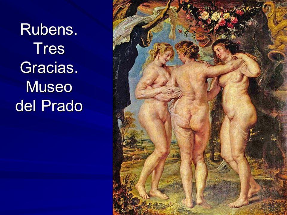 Pintura barroca 25 Rubens. Tres Gracias. Museo del Prado
