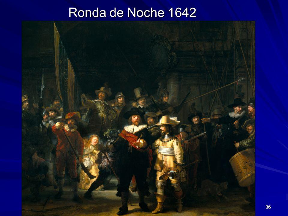 Pintura barroca 36 Ronda de Noche 1642