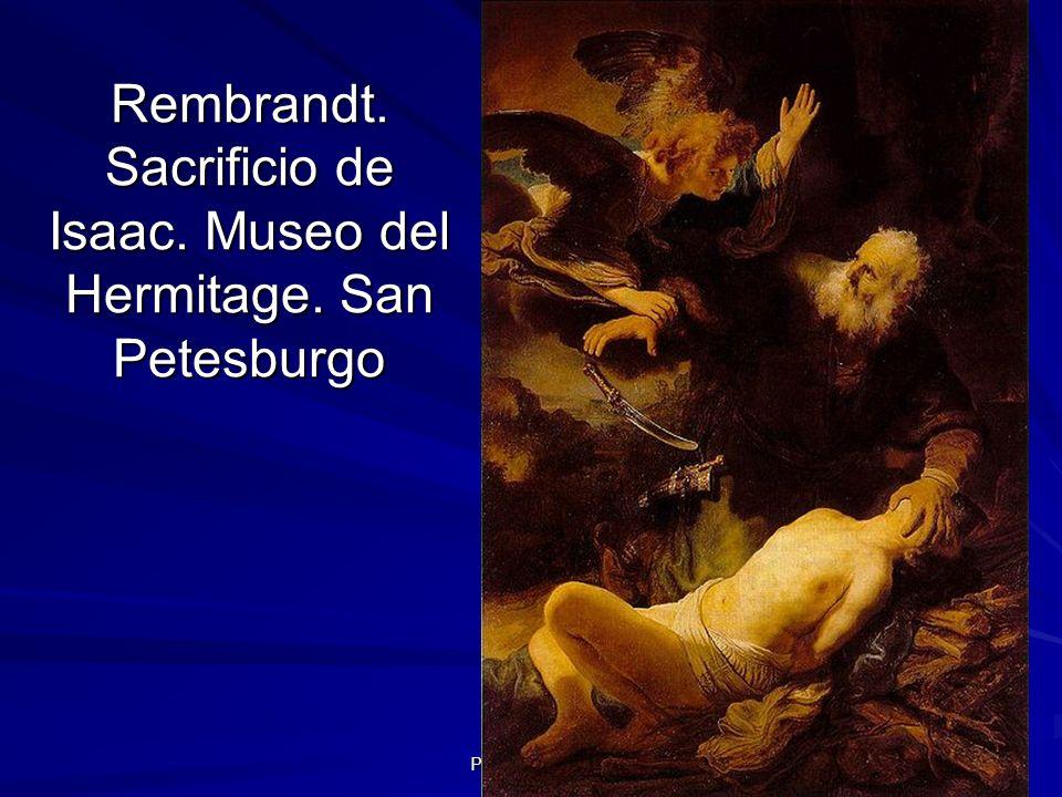 Pintura barroca 40 Rembrandt. Sacrificio de Isaac. Museo del Hermitage. San Petesburgo