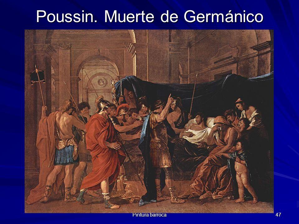 Pintura barroca 47 Poussin. Muerte de Germánico