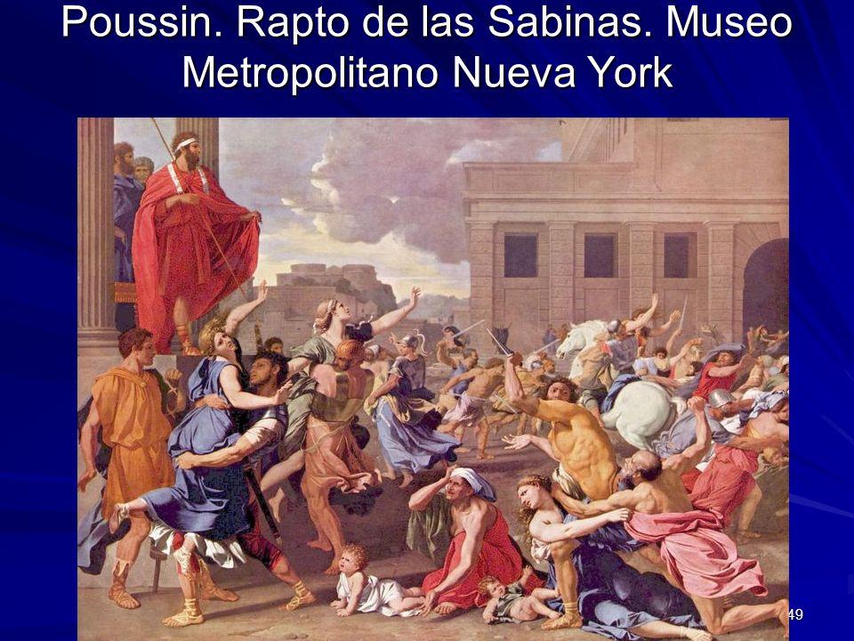 Pintura barroca 49 Poussin. Rapto de las Sabinas. Museo Metropolitano Nueva York