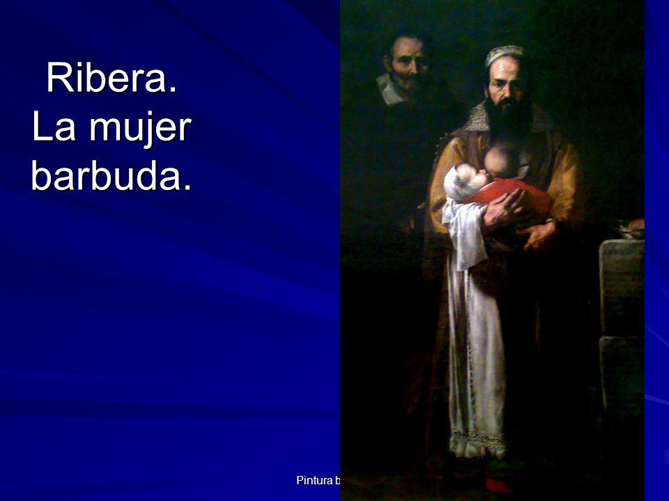 Pintura barroca 69 Ribera. La mujer barbuda.
