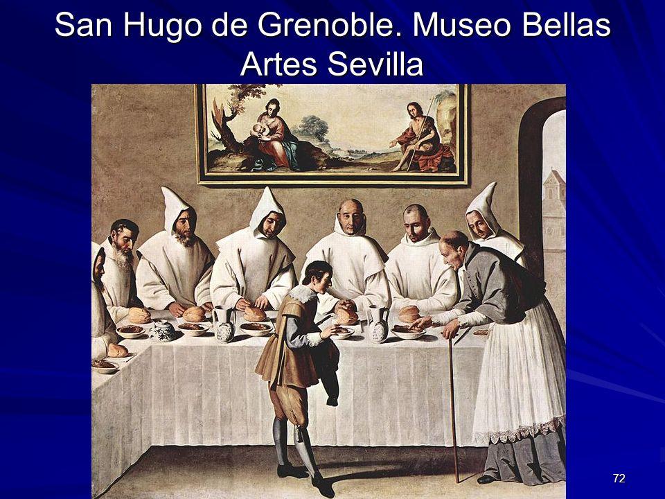 Pintura barroca 72 San Hugo de Grenoble. Museo Bellas Artes Sevilla