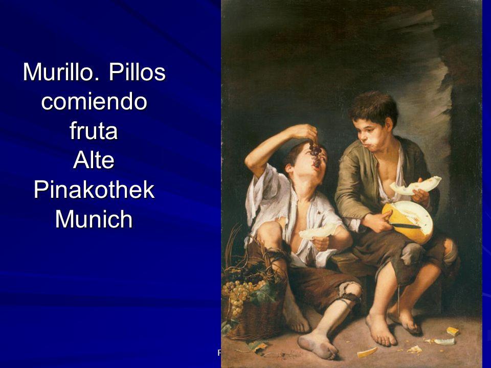 Pintura barroca 91 Murillo. Pillos comiendo fruta Alte Pinakothek Munich