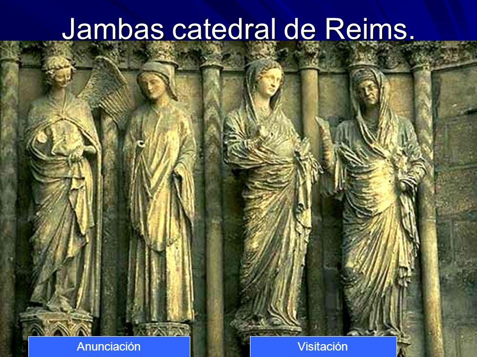 10 Jambas catedral de Reims. AnunciaciónVisitación