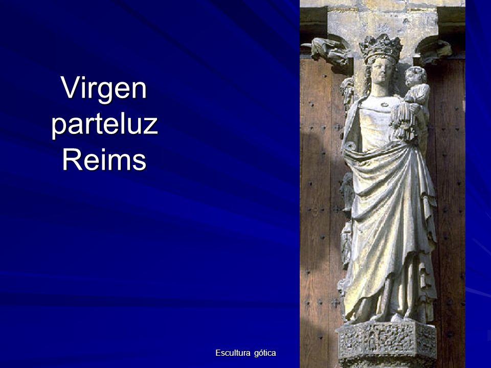 Escultura gótica 11 Virgen parteluz Reims
