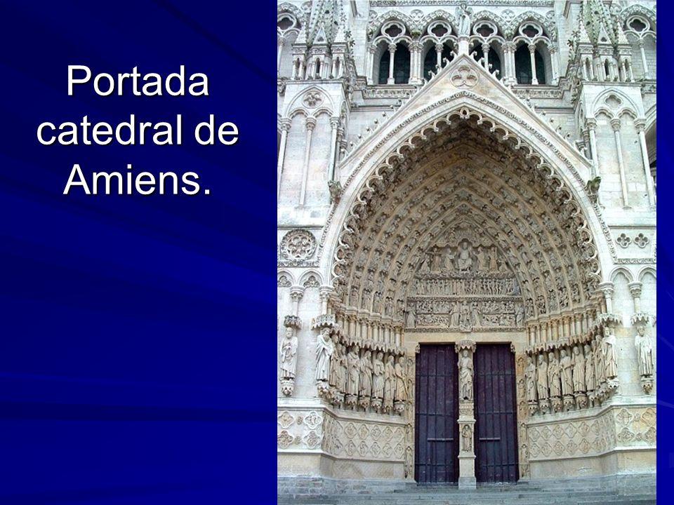 Escultura gótica 13 Portada catedral de Amiens.