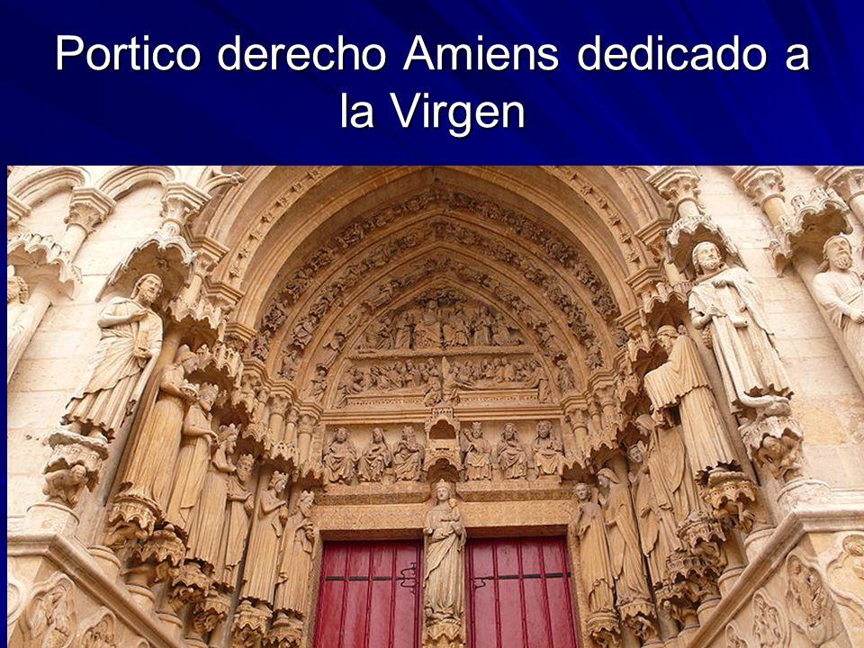 Escultura gótica 14 Portico derecho Amiens dedicado a la Virgen