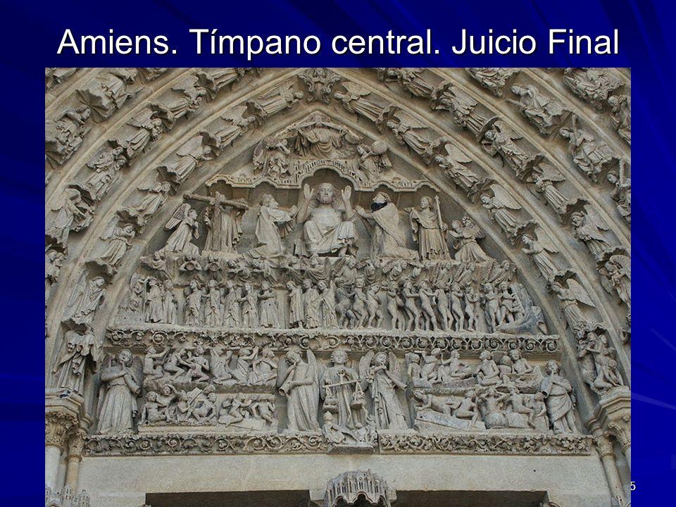 Escultura gótica 15 Amiens. Tímpano central. Juicio Final