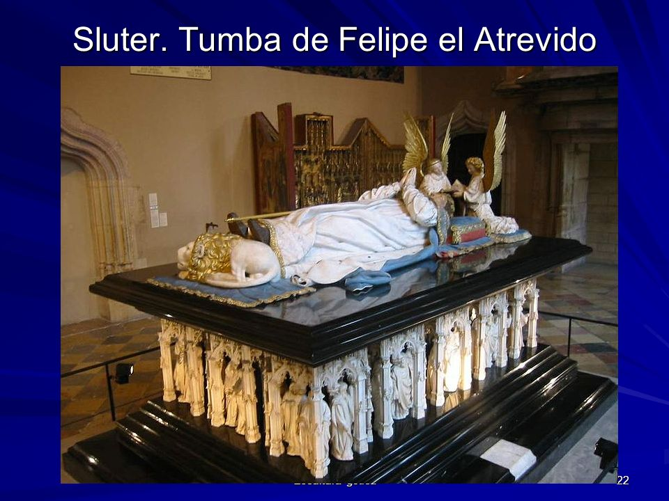 Escultura gótica 22 Sluter. Tumba de Felipe el Atrevido