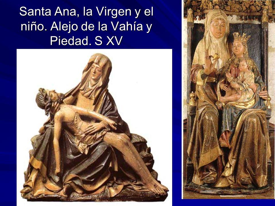 Escultura gótica 26 Santa Ana, la Virgen y el niño. Alejo de la Vahía y Piedad. S XV